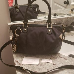 FLASH SALE! GUCCI GUCCISSIMA CANVAS 2 WAY SUKEY